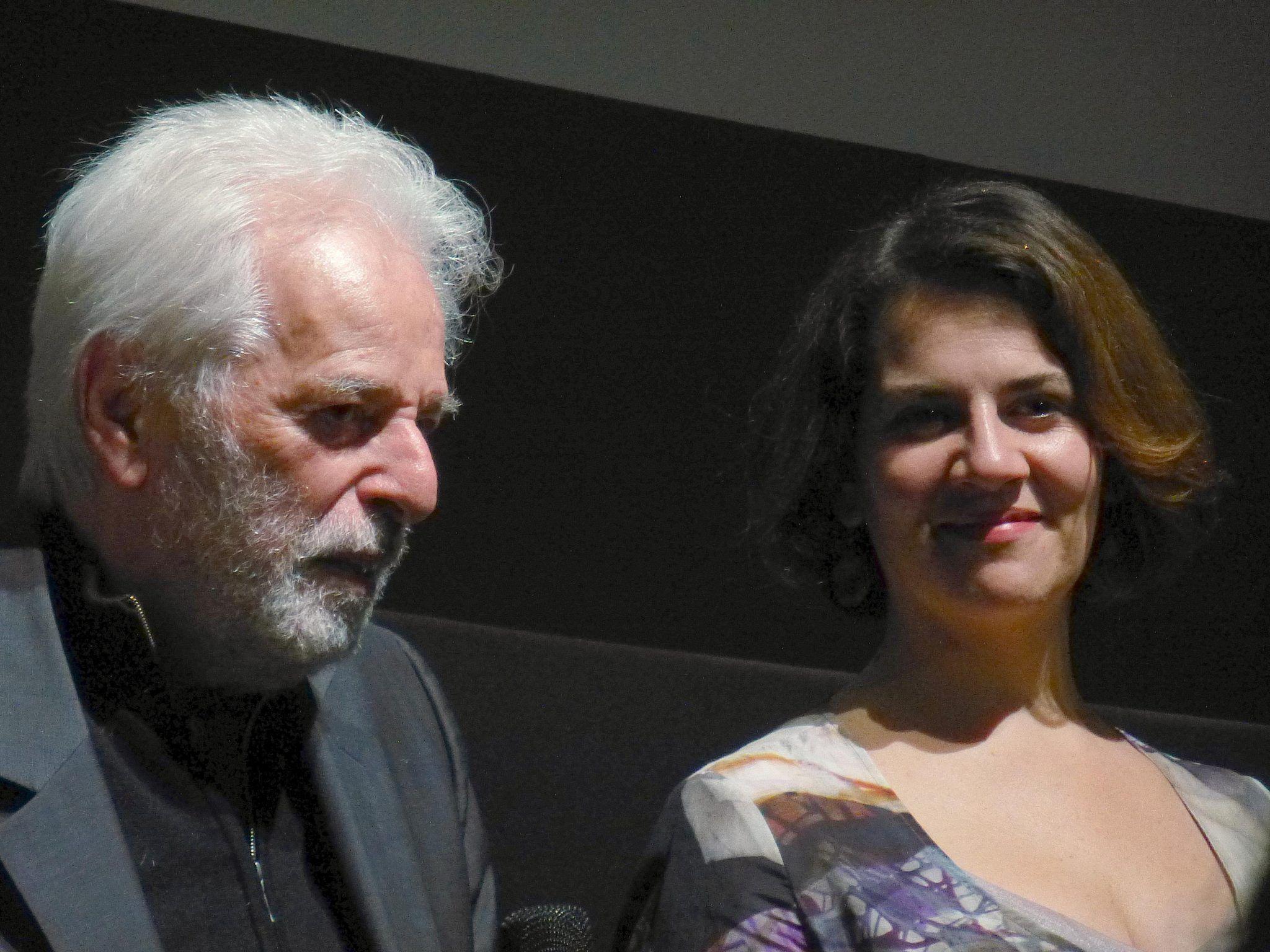 Pamela Flores con Alejandro Jodorowsky en Munchen